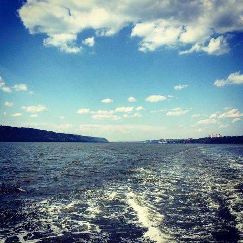 Hudson River from the boat