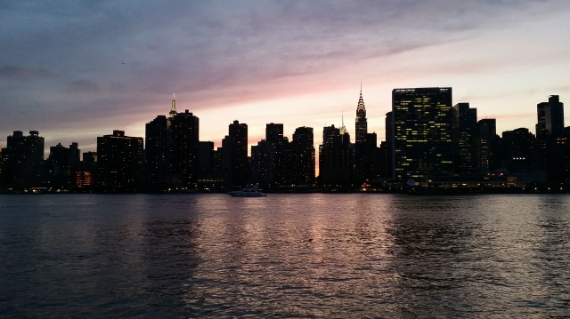 nyc sunset from lic
