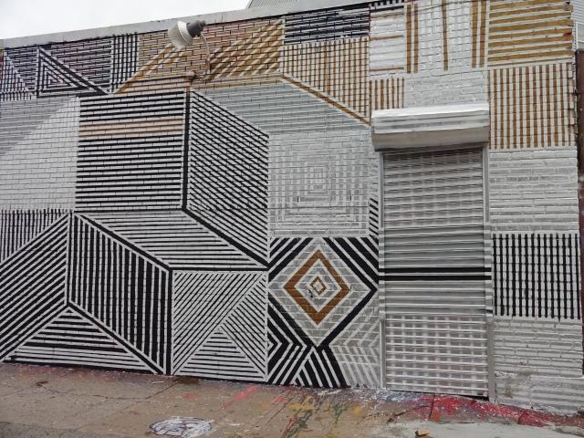 Mural by Jonathan Villoch, street name Depoe
